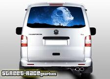 VW Volkswagen Transporter T5 Portón Trasero Wrap 135 Impreso Star Wars Estrella De La Muerte