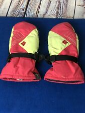 Columbia Mittens Youth Large Pink Green