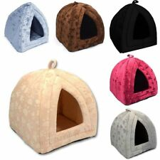 Small & Large Size New LUXURY Warm PET DOG CAT IGLOO CAVE HOUSE  ~ 4 COLORS