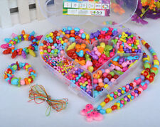 300pcs Assorted Color Plastic Beads Set For Kids Crafts in Heart-shaped Case4
