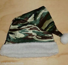 Santa Hat CAMOUFLAGE Christmas Holiday Plush Cap Hunter Redneck Army Camo - NEW!
