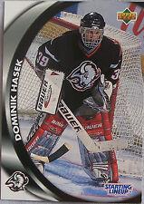 1998 Score Starting Lineup Dominik Hasek Buffalo Sabres Hockey Card
