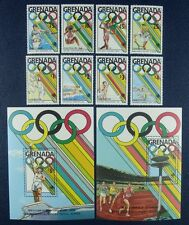 Grenada 1989 Olympiade Olympics Seoul 1961-68 + Block 217-18 Postfrisch MNH