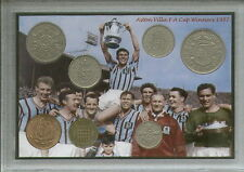 Aston Villa (The Villans) Vintage F.A Cup Final Winners Retro Coin Gift Set 1957