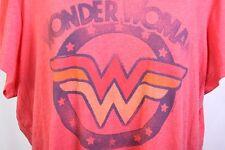 Junk Food Wonder woman stars logo red tee t shirt size 3