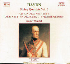 Coffret CD album: Haydn: string quartets vol.3. Kodaly quartet. naxos 5 CDs. D