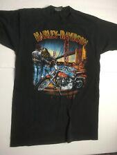 Vintage 1989 Harley Davidson (M) 3D EMBLEM shirt Golden Gate LILLY HD Back in VA