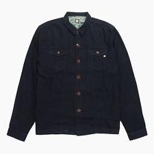 Pretty Green Mens Lightweight Dark Blue Cotton Denim Overshirt Jacket XXL 2XL