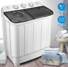 17lbs Portable Mini Twin Tub Compact Washing Machine Washer Spin Dryer W/ Hose