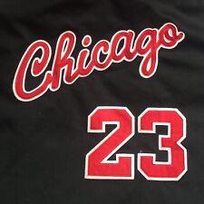 Authentic Chicago Bulls Michael Jordan 23 Mitchell Ness Sewn Rookie Black Jersey