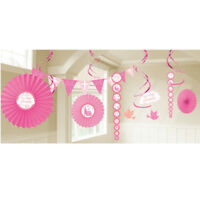 1st Holy Communion Pink Party Room Decorations - PINK Banners & Fans - 9901881