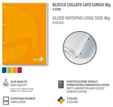 B&M Blocco Collato Lato Lungo Color 50Fg 90Gr Quadretto 5mm 1pz