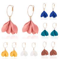 Fashion Women Tassel Flower Ear Stud Drop Long Dangle Earrings Jewelry