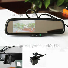 "car rearview mirror+4.3""backup display,fit Ford,Toyota,Nissan,Honda,+ camera,UK"