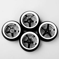 4X 1:10 RC On-Road Car Drift Tires 3Degree Tyre & Wheel Rim Fit HSP D5NWK+PP0367