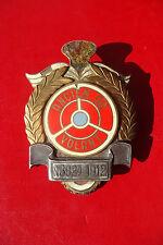 EXTREMLY RARE BELGIUM Ancien du Volant  Automobile member's badge NO 3824 - 1912