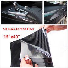 Cars SUV Ultra Gloss 5D Carbon Fibre Vinyl Wrap Film Adhesive Black Tint Sticker