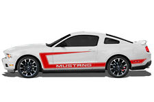 Custom Vinyl Graphics Decal Wrap for 2010-2014 Ford MUSTANG GT Side C-Stripe RED