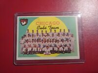 1959 Topps #304 Chicago Cubs Team Card Check list (unmarked on back) NrMt (dent)