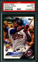 2016 Topps #78 Miguel Sano Swinging RC PSA 10 Rookie Card~Twins Future Star!