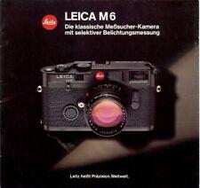Broschüre Prospekt Leica M6 German