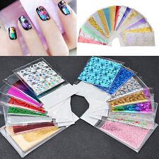 Lot 50Pcs DIY Nail Art Transfer Foil Galaxy Star Paper Tip Decoration Design Set