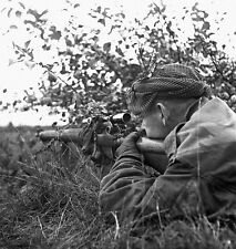 WW2 Photo WWII  World War Two Canadian Sniper Belgium 1944 Enfield   / 1509