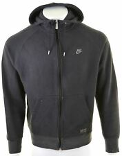 NIKE Mens Hoodie Sweater XL Black Cotton  HQ15
