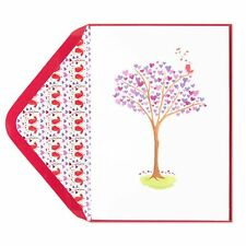 NEW & SEALED PAPYRUS Bird in a Heart Tree Valentine's Day Card - sending love