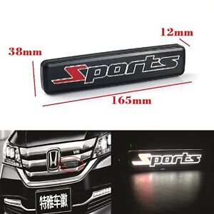 1X JDM SPORTS LED Light Car Front Grille Badge Emblam Illuminated Decal Sticker