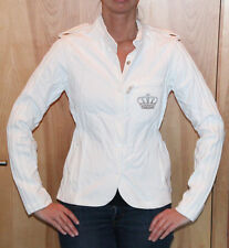 ADIDAS Women's White with Silver Crown Track Jacket Size Small NEW with TAGS
