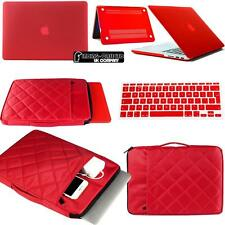 Rubberized Matte Hardshell Case+ Carrying bag + Keyboard Skin for Apple Macbook