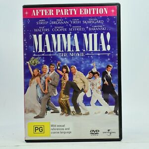 Mamma Mia The Movie After Party Edition DVD Good Condition Free Tracked Post