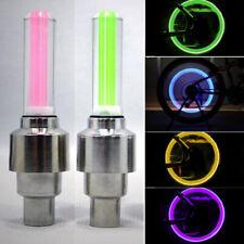 1x Coche Moto Bike Rueda Válvula Tapón Neumático de flash de LED Colorido Luz Polvo Tapa