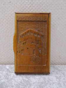 Madera Caja Grifón Caja Vintage Handgefertigt Tallado Porec Recuerdo