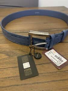 Stefano Ricci Suede & Crocodile Leather Belt (New & Authentic) 85 cm / 33.5""
