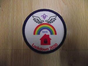 Lockdown 2020 Scout cubs beavers guides Blanket Badge 8cm