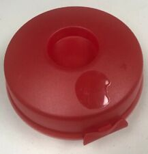 Tupperware Round Red Sandwich Bagel Salad Fruit Keeper Container 4440A-1