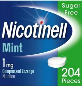 Nicotinell Mint sugar free 1mg Lozenge 204 pieces, Quit Smoking Aid, BBE 04/2023