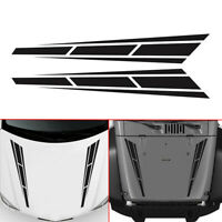 "2x 4.5"" x 31.5"" Racing Car Front Hood Stripes Graphics Sticker Decor Accessories"