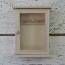Mini DIY Paint Your Own Craft Wooden Cabinet Key Cupboard Storage Box with Door