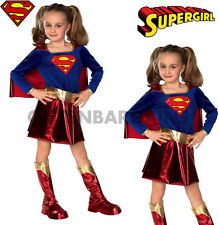 SUPERGIRL COSTUME GIRLS DELUXE BOOK WEEK FANCY DRESS SUPERHERO SUPERMAN S: SMALL