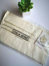 Cream Face Washer - 550 GSM - %100 Turkish Cotton - Satin Stripes