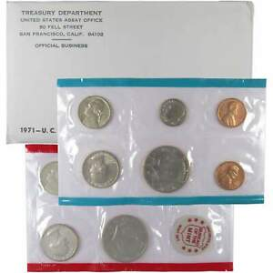1971 U.S. Mint Set Uncirculated Original Government Packaging OGP Collectible