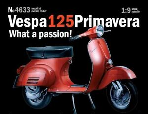 Italeri 1:9 4633 Vespa Primavera 125cc Model Motorcycle Kit