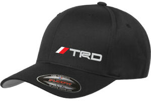 Embroidered Toyota TRD Flexfit hats.