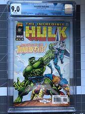 INCREDIBLE HULK 449 - CGC 9.0 - 1st APP OF THE THUNDERBOLTS - MARVEL COMICS