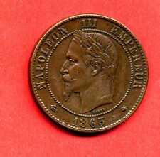 (BR.117) 10 CENTIMES NAPOLÉON III 1863 A TÊTE LAURÉE (SUP-)