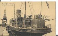 ww1 belgium military nautical postcard zeebrugge duke of clarence ship