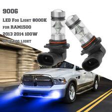 100W 9006 LED Fog Light 8000K for RAM1500 2013 2014